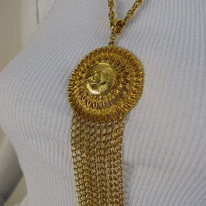 Vtg Necklace repurposed with Auth Chanel Button